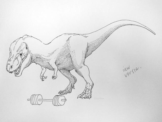 Tyrannosaur deadlifter