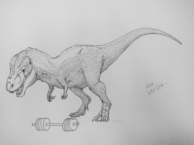 Almost Finished T-Rex with bar