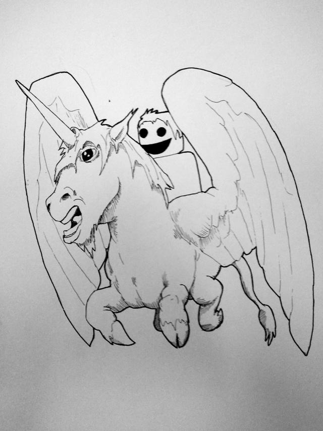 Pegicorn: it is what you call a Unicorn-Pegasus