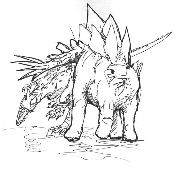 Quick and Dirty Ceratosaurus and Stegasaurus