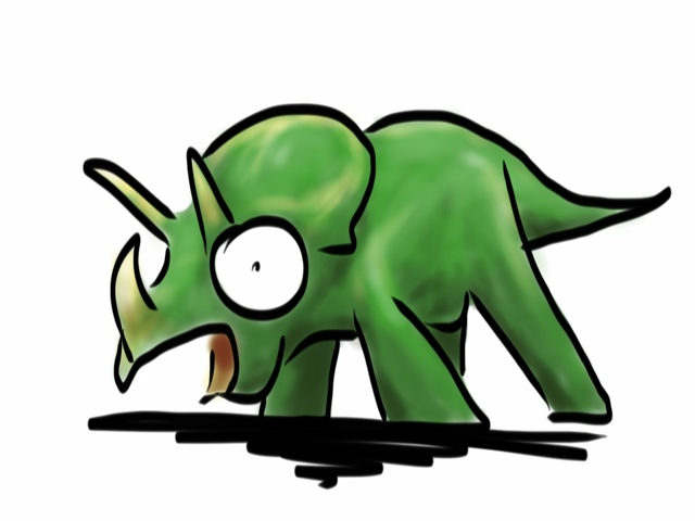 Startled Triceratops