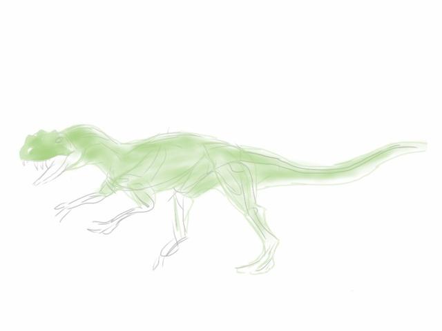 Ceratosaurus, quick sketch