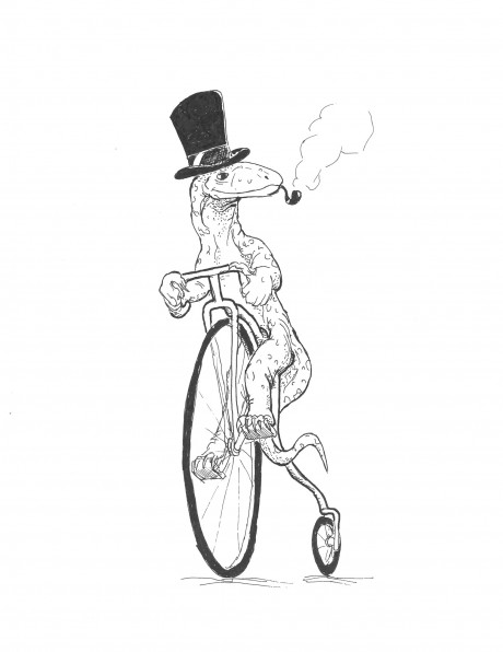 Penny-Farthing Goanna