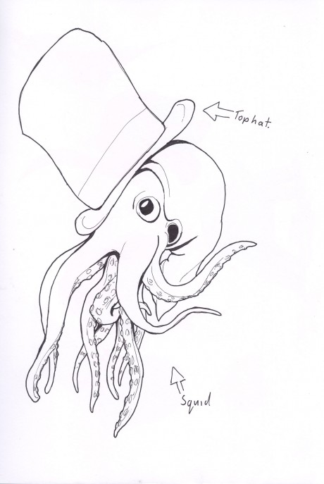 Squid in a tophat