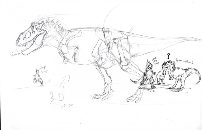 Tyrannosaur Body Shape Study