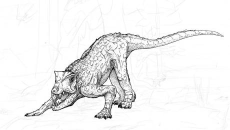 Postosuchus Pen Sketch