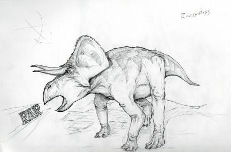Shrink wrapped Zuniceratops